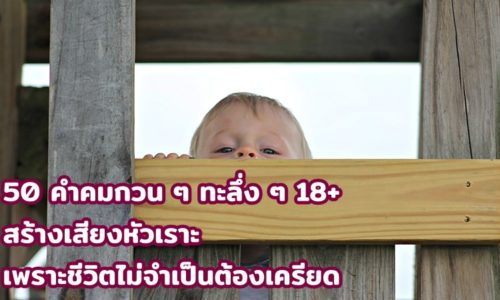 50 คำคมกวน ๆ ทะลึ่ง ๆ 18+ 2563 สร้างเสียงหัวเราะ เพราะชีวิตไม่จำเป็นต้องเครียด